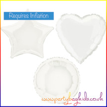 White Foil Balloon Shape Selection