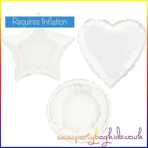 White Foil Balloon Shape Selection