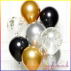 Gold and Black Balloon Cluster Kit