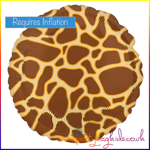 "Giraffe Print Foil Balloon 18"" Round"