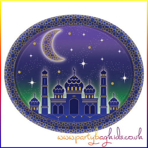 Eid Themed Oval Paper Serving Plate