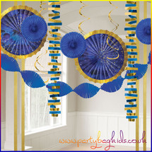 Blue and Gold Room Decorating Kit