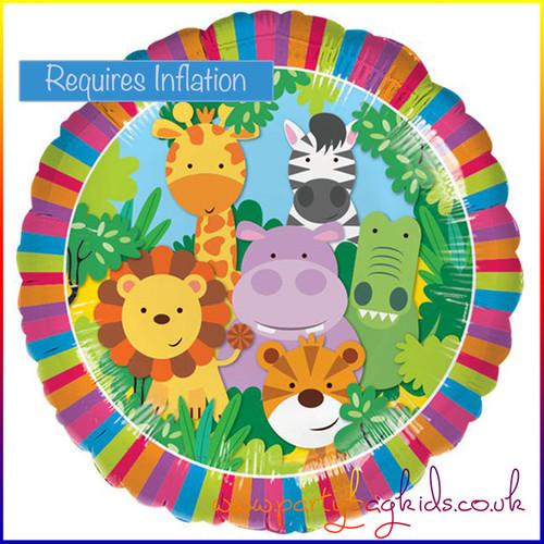 "Safari Animals Foil Balloon 18"" Round"