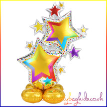 AirLoonz Let's Colourful Star Air Filled Foil Balloon Display