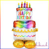 AirLoonz Birthday Cake  Air Filled Foil Balloon Display