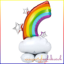 AirLoonz Rainbow Air Filled Foil Balloon Display