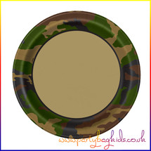 Camouflage Party Plate