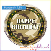 "Camouflage 18"" Foil Balloon"