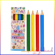 Mini Colouring Pencils Pk4