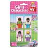 Girls Characters Building Blocks