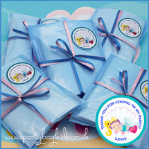 Mermaids Clamshell Personalised Baby Blue Cello Party Bag