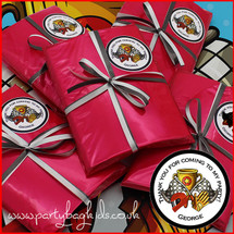 Karting Personalised Party Bag in Red Cello