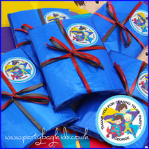 Super Hero Personalised Party Bag in Royal Blue