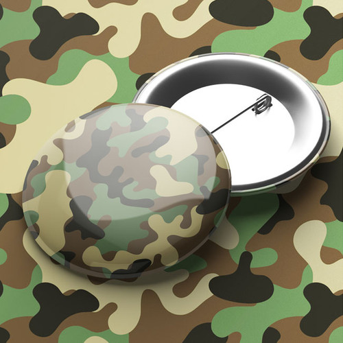 Camouflage Pin Badge