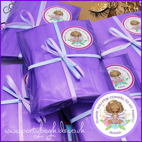 Fairy Princess Personalised Party Bag in Purple