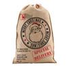 Vintage style hessian santa sack