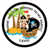 Pirate Monkey Party Sticker