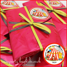Circus Personalised Pre-Filled Party Bag in Red