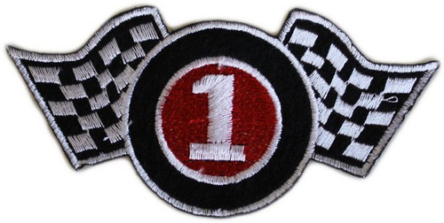 Racing Themed Fabric Patch for Party Bags