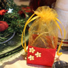 Red and Gold Christmas Basket