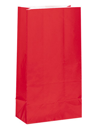 Ruby Red Paper Party Bag
