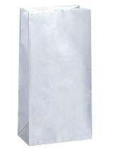 Silver Metallic Paper Party Bag
