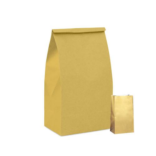Gold Metallic Paper Party Bag