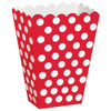 Red Polka Dot Treat Box For Parties