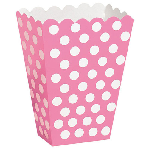 Hot Pink Polka Dot Treat Box for Girls Parties