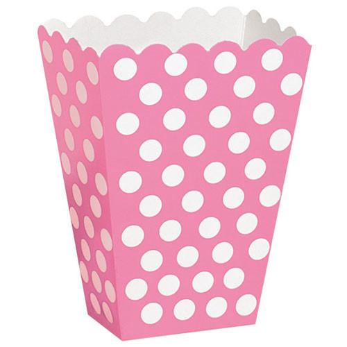 Hot Pink Polka Dot Treat Box for Girls Parties