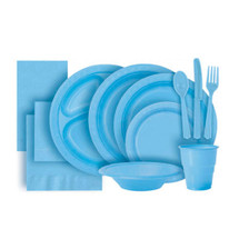 Baby Blue Plastic Party Tableware