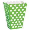 Green Polka Dot Treat Box for Girls Parties