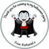Halloween Party Label - Dracula
