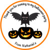 Pumpkins Party Label