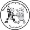 Mummy and Skeleton Label