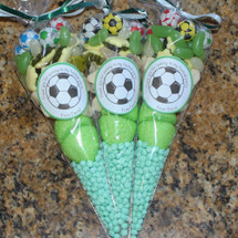 Football Sweetie Cone: Sweet Filled Candy Cone