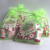 Quartet of Green Pamper Party Bags