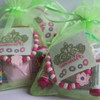 Green Organza Party Bags