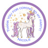 Unicorn Candy Cone Sticker