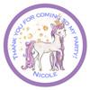 Unicorn Candy Cone Sticker