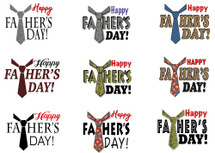 Father's Day Gift Label Contact Sheet