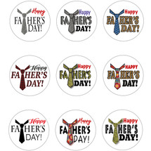 Father's Day Round Gift Label Contact Sheet