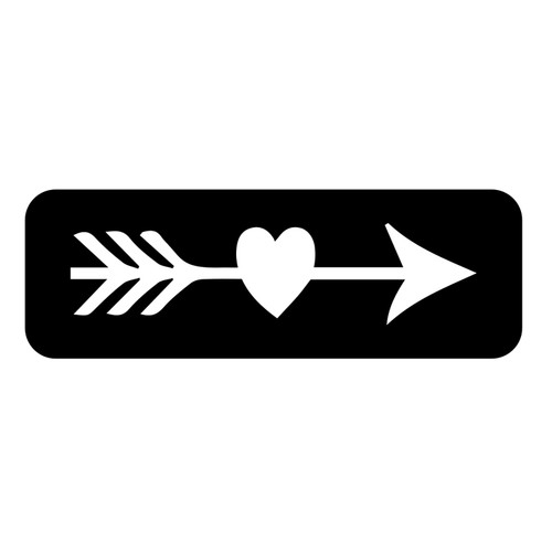 Cupids Arrow Tattoo Stencil