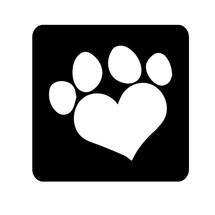 Heart Paws Glitter Tattoo Stencil