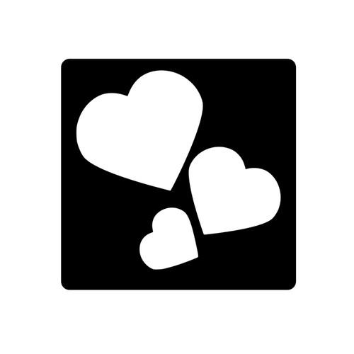 Trio of Hearts Stencil