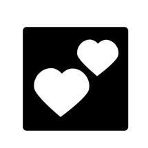 Heart Duo Stencil