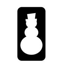 Snowman Glitter Tattoo Stencil