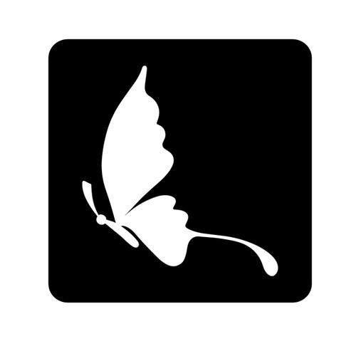 Butterfly Stencil D4