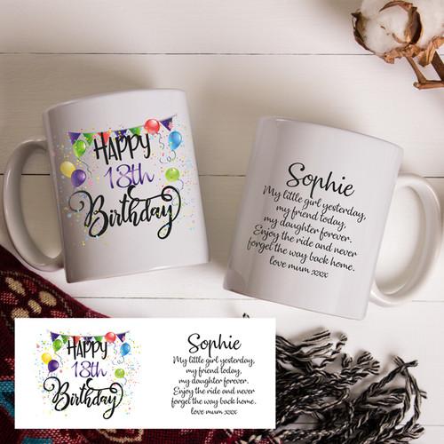 18th Birthday Girl Mug