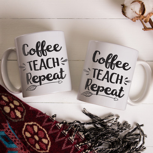 Coffee Teach Repeat Gift Mug